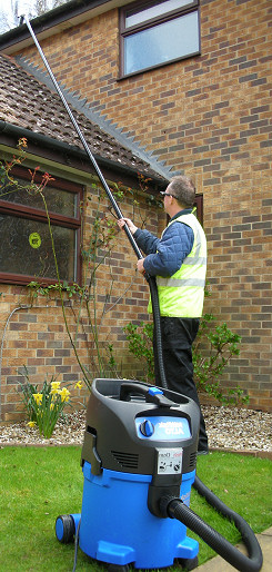 Vacuum cleaning gutters for residential customers in Faversham, Sheerness and Sittingbourne